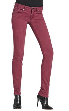 Bordeaux Wash Skinny Jean - also in a curvy fit!!