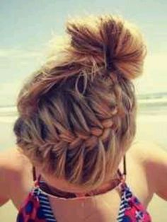 French braid up do