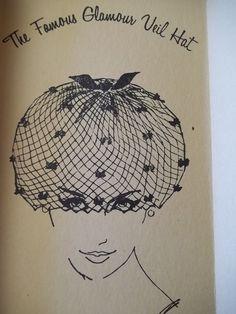 Vintage Glamour Black Veil Hat Mesh Net Velvet Butterflies Detail 50 60 039 s Era | eBay
