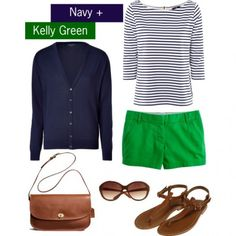 Navy + Kelly Green