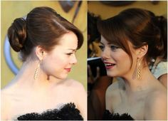 Amazing Wedding Updos Inspired by the Red Carpet: Emma Stone