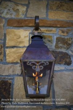 French Style Gas Lanterns For Front Porch Instead Of Regular Lights