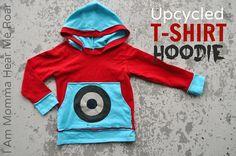 DIY Clothes DIY Refashion DIY Clothes Refashion: DIY Upcycled T-shirt Hoodie Tutorial
