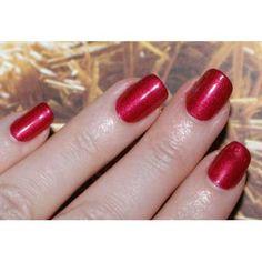 Red Baroness - shimmer - opaque - medium dark red