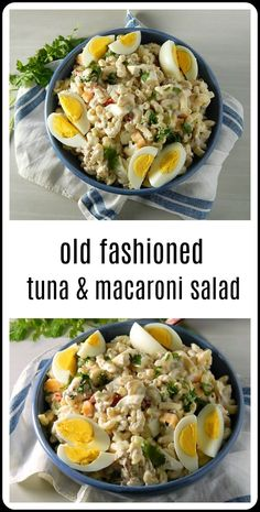 over the hot hot weekend, I got the idea that I wanted some of that Old Fashioned Tuna Macaroni Salad. You know the one I mean, all cool, creamy deliciousness with a few crunchy veggies and that tuna that somehow melds in and makes everything so rich. Healthy Food Habits, Healthy Meals To Cook, Healthy Food List, Healthy Diet Recipes, Raw Food Recipes, Lunch Recipes, Salad Recipes, Healthy Eating, Cooking Recipes
