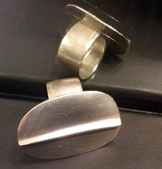 Me & Ro Sterling Beautiful Shaped Heavy Ring Chunky Rare Size 8 #MeRo #Band #Me&Ro #meandro