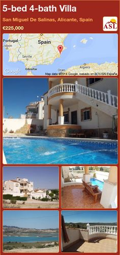 5-bed 4-bath Villa in San Miguel De Salinas, Alicante, Spain ►€225,000 #PropertyForSaleInSpain