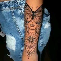 Feminine Tattoo Sleeves, Feminine Tattoos, Girly Tattoos, Pretty Tattoos, Mini Tattoos, Sexy Tattoos, Cute Tattoos, Body Art Tattoos, Girl Forearm Tattoos