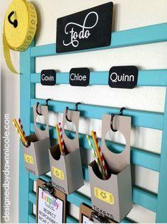 DIY Wall Chore Chart From Upcycled Crib
