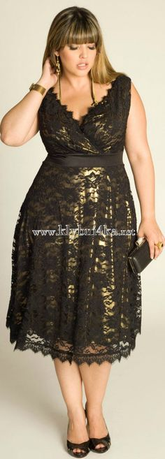 An elegant lace gold dress