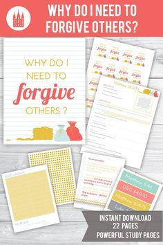 """LDS Young Women """"Come Follow Me"""" lesson helps for March """"The Atonement of Jesus Christ"""".    This teaching package is for the lesson """"why do I need to forgive others?"""""""