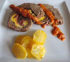 Carne rellena de Tortilla y Beicon en Salsa Española   Cocinando con las Chachas