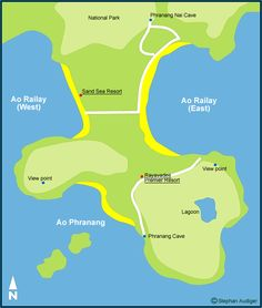 Railay Beach Map - Krabi Maps