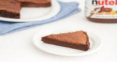 Two Ingredient Flourless Nutella Cake
