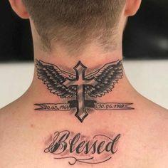 tattoos for men, neck wing tattoo, wing tattoos, neck tattoo Tropisches Tattoo, Alas Tattoo, Forarm Tattoos, Cool Forearm Tattoos, Tattoo Hals, Leg Tattoos, Small Tattoos, Tattoo Neck, Tattos