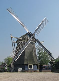 Polder mill Hollandia, Ankeveen, the Netherlands.