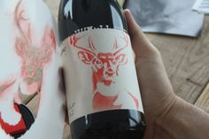 Personalize your own wine bottle using Stencil1 stencils.