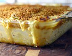 Triple Cheese Scalloped Potatoes (funeral potatoes) without any canned cream of whatever.