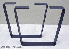 FREE SHIPPING Metal Coffee Table Legs PAIR w/Clear by PDBSteel