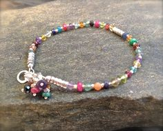 Faceted tourmaline and hill tribe silver bracelet. $32.00, via Etsy.