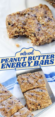 This quick and easy back to school food idea is wholesome and filling! Full of oatmeal, chia seeds, peanut butter, and more, this no-bake energy bar recipe makes a healthy, tasty breakfast or… Best Breakfast Recipes, Snack Recipes, Camping Recipes, Bar Recipes, Vegan Recipes, Peanut Butter Energy Bars Recipe, Dutch Oven Recipes, Easy Homemade Recipes, Nutritious Breakfast