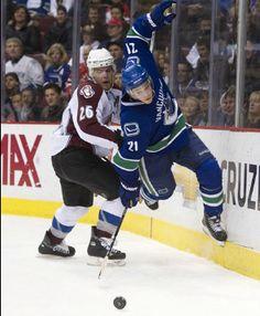 Fly Mason! Fly! —Mason Raymond. #vancouvercanucks Mason Raymond, Hockey Logos, Vancouver Canucks, Jackets, Down Jackets, Jacket