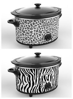 Hamilton Beach animal print slow cooker I want the zebra one!!