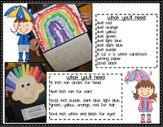 Roy G Biv Portrait and Rainbow Collage with Acrostic Poem