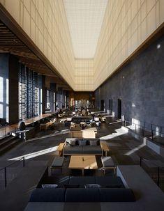 Luxury hotel lobby in Tokyo highrise [1125x1448]