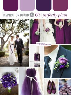 Wedding Inspiration Board - Perfectly Plum