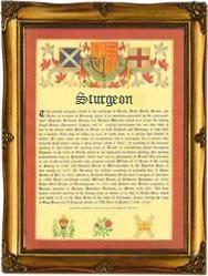 Surname Database: Sturgeon Last Name Origin