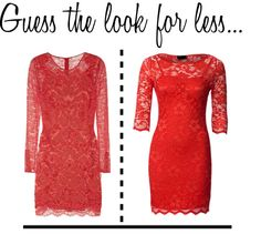 Guess the look for less - Red Lace
