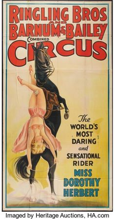 Circus Poster (Ringling Brothers and Barnum & Bailey, Three Sheet X - Available at Sunday Internet Movie Poster. Old Circus, Circus Train, Circus Art, Circus Theme, Circus Birthday, Birthday Parties, Disney Princess Facts, Disney Fun Facts, Cirque Vintage
