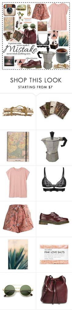 """""""a way of being"""" by iandcheshirecat ❤ liked on Polyvore featuring Jayson Home, Dr. Martens, Polaroid, Impossible Project, Pottery Barn, Fig+Yarrow, Lodis, outfit, look and Trendy"""