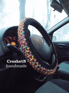 Car Accessories Car Gifts Crochet Wheel Cover Car Decor Wheel Cover for car Steering wheel Wheel cover Steering wheel cover Gift H2002