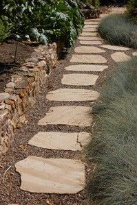 path - don't have to mow individual steps to keep looking nice