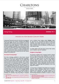 Updates on New Board Concept Paper - Hong Kong Law Newsletter - 27 October 2017