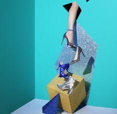 Jimmy Choo - Max 120 glitter sandal | Jimmy Choo - Romy 100 glitter pump | No21 - Bow mule | Camilla Elphick - Silver boot