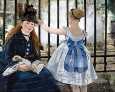 GIRLS-WOMEN-WAITING-AT-THE-RAILWAY-TRAIN-STATION-PAINTING-MANET-ART-CANVAS-PRINT