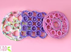 Sottopentola con carta riciclata - Trivets with recycled paper