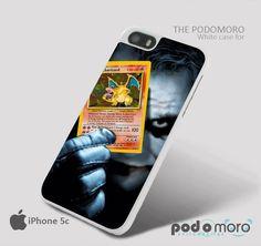 Joker Pokemon Card Charizard Pokemon for iPhone 4/4S, iPhone 5/5S, iPhone 5c, iPhone 6, iPhone 6 Plus, iPod 4, iPod 5, Samsung Galaxy S3, Galaxy S4, Galaxy S5, Galaxy S6, Samsung Galaxy Note 3, Galaxy Note 4, Phone Case