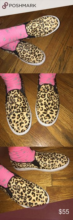 Cole Haan Jennica Slip-On Calf-Hair Sneakers-Sz 7 GUC these Leopard Print slip-ons are great with any outfit. Calf hair in great shape. No visible flaw other than normal pre-own wear. Cole Haan Shoes Flats & Loafers