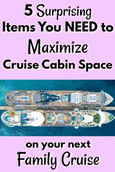 Family cruises are amazing, but they can get cramped if you're not prepared! These 5 items are surprisingly simple, but can save you LOTS of space, trouble, and frustration with your family on your next cruise! Packing List For Cruise, Cruise Tips, Cruise Vacation, Vacation Trips, Travel Couple, Family Travel, Alaskan Cruise, Cruise Destinations, Travel Tips