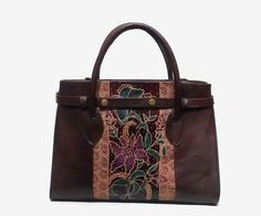 d5d5fa47e388 Leather in batik Handmade bag Using Cow Leather
