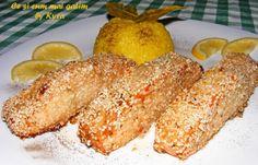 : Somon in crusta de susan cu garnitura de orez cu s... Food And Drink