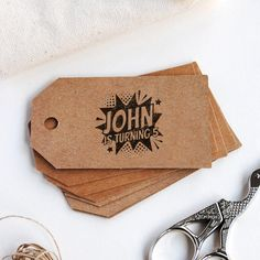 Make your DIY birthday tags for a superhero birthday party with this custom kid stamp with the name, phrase or quote you want. Diy Birthday Tags, Superhero Birthday Party, Kids Stamps, Custom Stamps, Logo Stamp, Customized Gifts, Gift Tags, Crafts For Kids, Quote