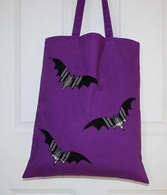 Bats Halloween, Tote Bag, Black Tartan, Bat Lover, Shopping Bags, Halloween Gifts, Handmade Reusable Bag, Scottish Gifts, Trick or Treat Bag Halloween Trick Or Treat, Halloween Bats, Scottish Gifts, Trick Or Treat Bags, Love To Shop, Etsy Handmade, Handmade Gifts, Black Tote Bag, Reusable Bags