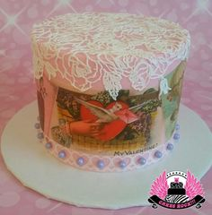 Vintage Valentines Cake - Cake by Cakes ROCK!!!