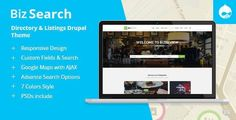 BizSearch - Directory & Listing Drupal Theme ⠀ BizSearch is a successor of a best selling direc Wordpress Template, Wordpress Plugins, Faceted Search, Banner Images, Drupal, Website Themes, Corporate Business, Premium Wordpress Themes, Website Template