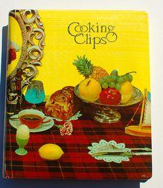 Cooking Clips vintage cookbook recipe organizer wallet files